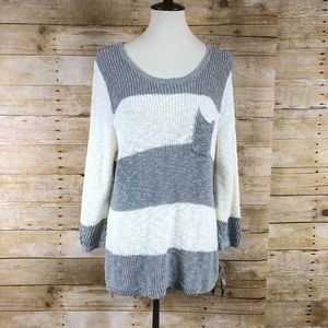 NWT Style & Co Gray And White Sweater Sz 1X